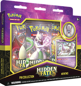 Pokemon Trading Card Game: Hidden Fates Pin Collection - Mewtwo