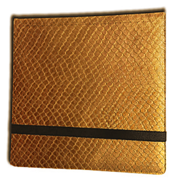 12 Pocket Binder: Gold (Dragonhide)