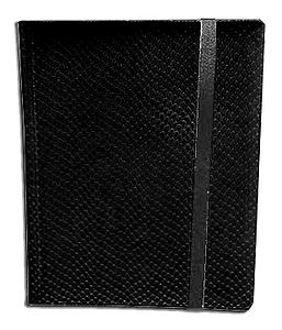 4 Pocket Side Loading Binder: Black (Dragonhide)