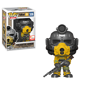 Pop! Games Fallout 76 Vinyl Figure Excavator Armor (with Gun) #506 2019 E3 Exclusive