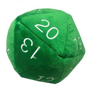 Jumbo D20 Dice Plush: Green