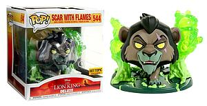 Pop! Disney The Lion King Vinyl Figure Deluxe Scar With Flames #544 Hot Topic Exclusive