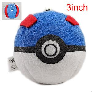 "Plush Toy Pokemon 3"" Great Ball"