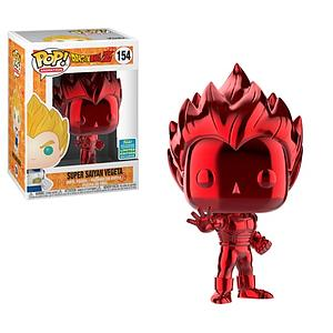 Pop! Animation Dragon Ball Z Vinyl Figure Super Saiyan Vegeta (Red Chrome) #154 2019 Summer Convention Exclusive