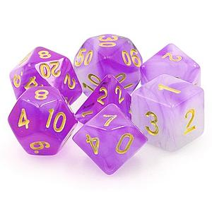 RPG 7-Dice Set: Translucent Amethyst Dream Purple Haze