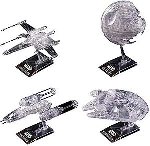 Star Wars 1/144 & 1/350 & 1/2700000 Scale Model Kit: Clear Vehicle Set