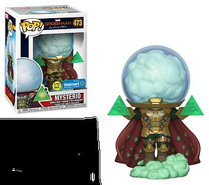 Pop! Marvel Spider-Man Far From Home Vinyl Bobble-Head Mysterio (Glow in  the Dark) #473 Walmart Exclusive