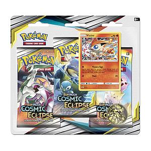 Pokemon Trading Card Game: Sun & Moon (SM12) Cosmic Eclipse 3-Pack Blister - Victini