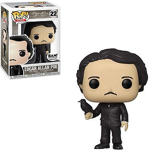 Pop! Icons Edgar A Poe Vinyl Figure Edgar Allan Poe (with Raven) #22 BAM Exclusive