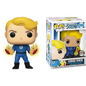 Pop! Marvel Fantastic Four Vinyl Bobble-Head Human Torch (Glows in the Dark) #568 Specialty Series