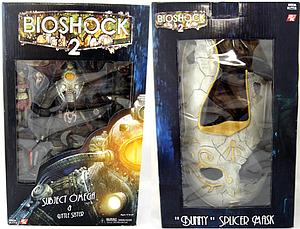 "Bioshock 2 8"" Deluxe Box Set: Subject Omega & Little Sister with Bunny Splicer Mask (Damaged Mask)"