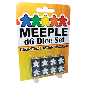 Meeple D6 Dice Set - Black