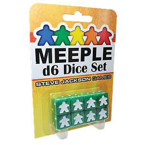 Meeple D6 Dice Set - Green