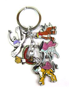 Pokemon Keychain Legendaries (Ho-Oh, Lugia, Raikou, Suicune, Entei)
