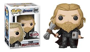 Pop! Marvel Avengers Endgame Vinyl Bobble-Head Thor (with Mjolnir & Stormbreaker) #482 Special Edition Exclusive