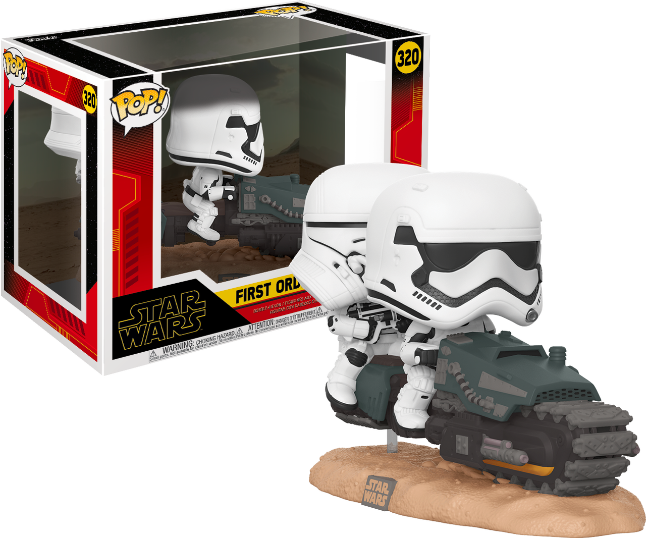 Pop! Movie Moments Star Wars The Rise of Skywalker Vinyl Bobble-Head First Order Tread Speeder #320