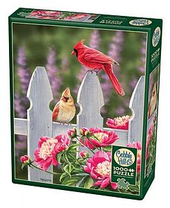 Puzzle: Cardinals and Peonies