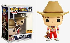 Pop! Movies Back to the Future Vinyl Figure Marty McFly (Cowboy) #816 Hot Topic Exclusive