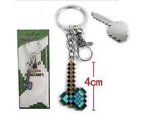 Minecraft Diamond Axe Keychain