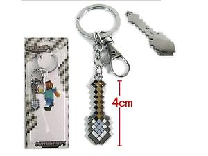 Minecraft Iron Shovel Keychain