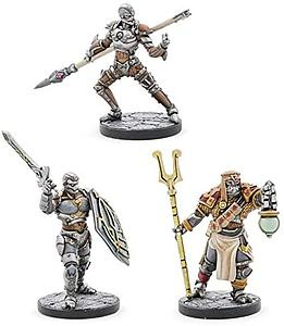 Dungeons & Dragons Eberron Unpainted Miniatures: Warforged Thief/Cleric/Fighter