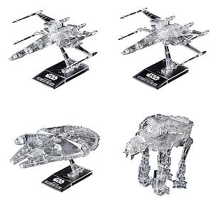 Star Wars 1/144 & 1/350 & 1/540 Scale Model Kit: (Star Wars: The Last Jedi) Clear Vehicle Set
