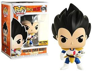 Pop! Animation Dragon Ball Z Vinyl Figure Vegeta (Over 9000) #676 Hot Topic Exclusive