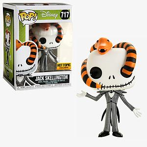 Pop! Disney Nightmare Before Christmas Vinyl Figure Jack Skellington (with Snake) #717 Hot Topic Exclusive