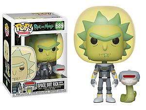 Pop! Animation Rick and Morty Vinyl Figure Space Suit Rick with Snake #689
