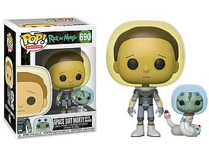 Pop! Animation Rick and Morty Vinyl Figure Space Suit Morty with Snake #690