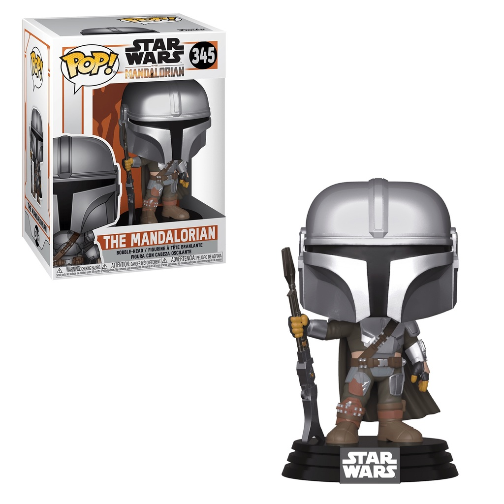 Pop! Star Wars The Mandalorian Vinyl Bobble-Head The Mandalorian #345