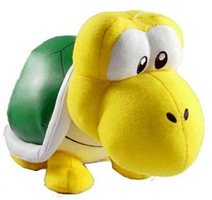 "Plush Toy Super Mario Bros 10"" Koopa Crawling"