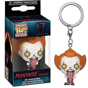 Pop! Pocket Keychain IT Vinyl Figure Pennywise Funhouse