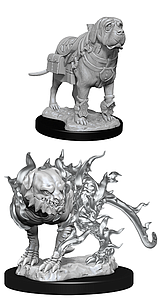 Dungeons & Dragons Nolzur's Marvelous Unpainted Miniatures: Mastif and Shadow Mastif