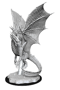Dungeons & Dragons Nolzur's Marvelous Unpainted Miniatures: Young Silver Dragon