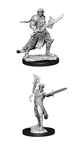 Pathfinder Deep Cuts Unpainted Miniatures: Male Elf Magus (Magic User)