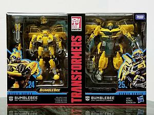 Transformers Generations Studio Series Deluxe Action Figure 2-Pack Bumblebee #24 (1967 VW Beetle) & #25 (2016 Camaro)