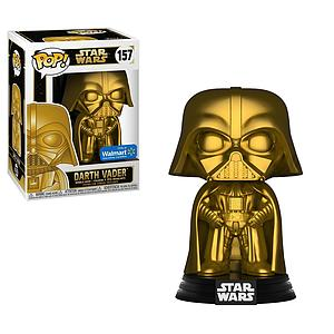 Pop! Star Wars Vinyl Bobble-Head Darth Vader (Gold) #157 Walmart Exclusive