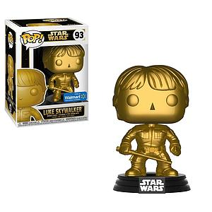 Pop! Star Wars Vinyl Bobble-Head Luke Skywalker (Bespin) (Gold) #93 Walmart Exclusive