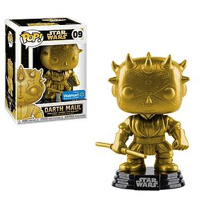 Pop! Star Wars Vinyl Bobble-Head Darth Maul (Gold) #09 Walmart Exclusive