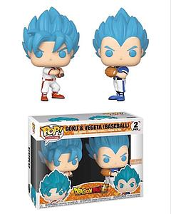 Pop! Animation Dragon Ball Z Vinyl Figure 2-Pack Goku & Vegeta (Baseball) BoxLunch Exclusive