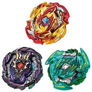 Takara Tomy Beyblade Burst B-149 GT Triple Booster Set (Slash Dragon.OO.Ω.Metsu, Lord Spriggan.Bl.Dm' & Dread Bahamut.7W.Om Gen)