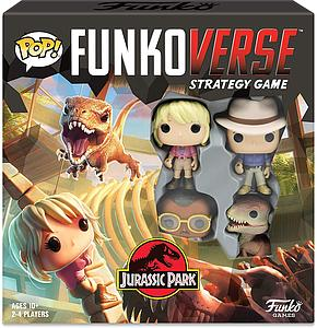 Pop! Funkoverse Strategy Game Jurassic Park 100 4-Pack