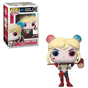 Pop! Heroes Vinyl Figure Harley Quinn (with Mallet) (Suicide Squad Rebirth) #301 GameStop Exclusive (EB Games Sticker)