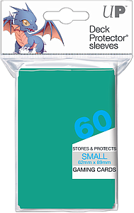 Aqua Small Card Sleeves (62mm x 89mm)