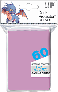 ULTRA PRO Deck Protector Sleeves 60 CT Bright Pink Small (62mm x 89mm)