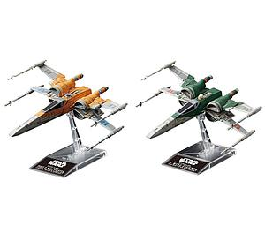 Star Wars 1/144 Scale Model Kit: Poe's X-Wing Fighter & X-Wing Fighter