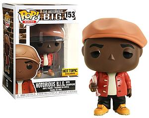 Pop! Rocks Vinyl Figure The Notorious B.I.G. with Champagne #153 Hot Topic Exclusive