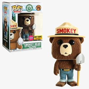 Pop! Ad Icons Smokey Vinyl Figure Smokey Bear (Flocked) #75 Hot Topic Exclusive