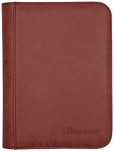 4-Pocket Pro-Suede Binder: Ruby